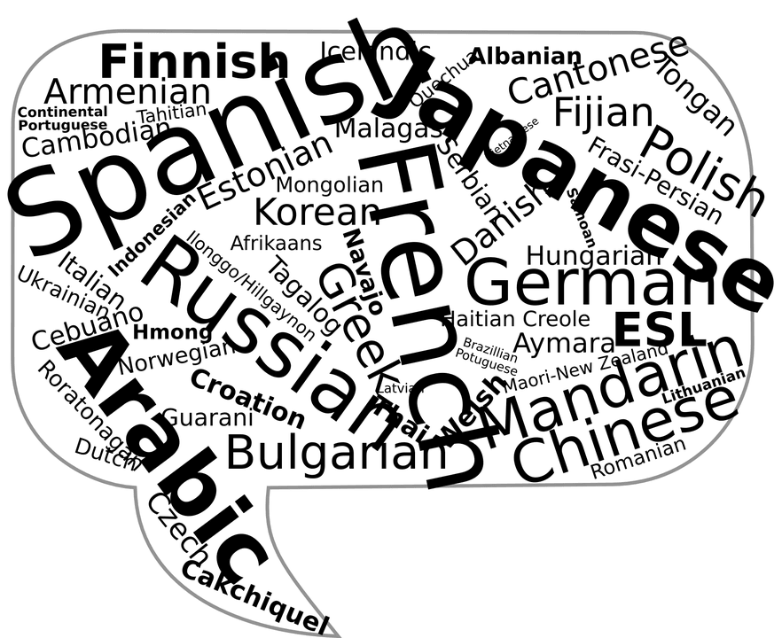 Where can we listen the 10 most spoken languages?
